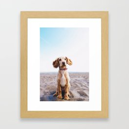 Man's Best Friend (Color) Framed Art Print