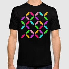 Colour Block Black Mens Fitted Tee MEDIUM