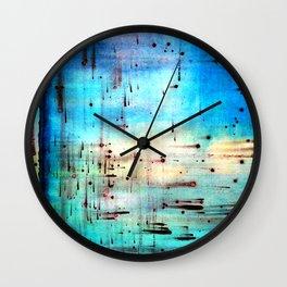 Blowing Dots (2) Wall Clock