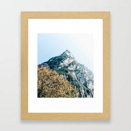 Swiss Mountains. Framed Art Print