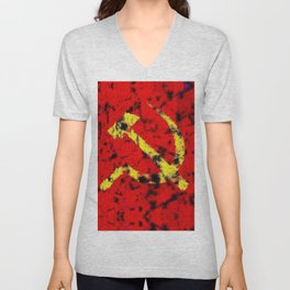 The Hammer and The Sickle Unisex V-Neck