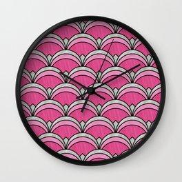 Pink Vintage Twenties Art Deco Pattern Wall Clock
