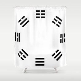 I Ching Clock Shower Curtain