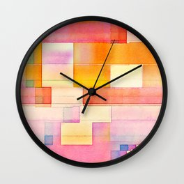 Summer Bright Madras Wall Clock