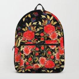 Dark Rose Garden Floral Backpack