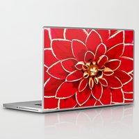 dahlia Laptop & iPad Skins featuring Dahlia by Saundra Myles