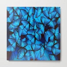 BLUE MORPHO CLUSTER 2 Metal Print