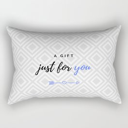 A gift for you (blue version for him) Rectangular Pillow