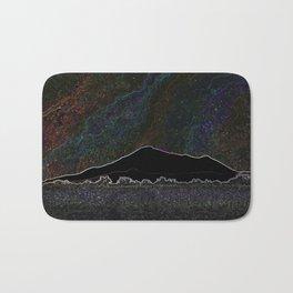 Neon Mountain Starlight Bath Mat