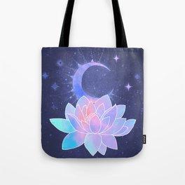 moon lotus flower Tote Bag
