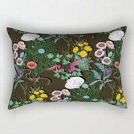 papaveraceae black Rectangular Pillow