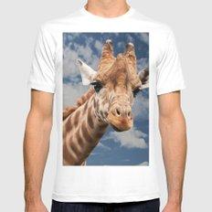 Giraffe White MEDIUM Mens Fitted Tee