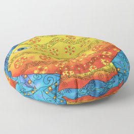 Patterned Fish Floor Pillow