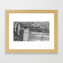 Apple Crates Framed Art Print