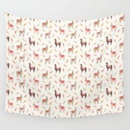 Boho llama Wall Tapestry