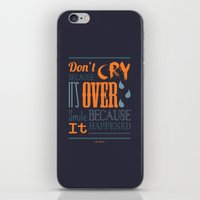 dr seuss iPhone & iPod Skins featuring Dr. Seuss Quote  by Robert Woods
