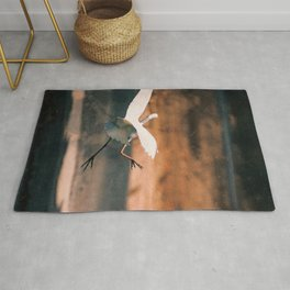 Clumsy Great Egret Rug