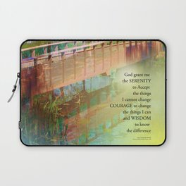 Serenity Prayer Long Bridge Laptop Sleeve