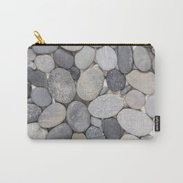 Smooth Grey Pebble Minimalistic Zen  Carry-All Pouch