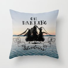 Lets Be Adventurers Throw Pillow