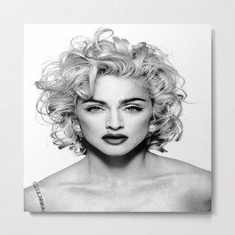 Madonna Portrait Metal Print
