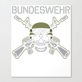 DE Army Weapon Soldier Poison T-Shirt Canvas Print