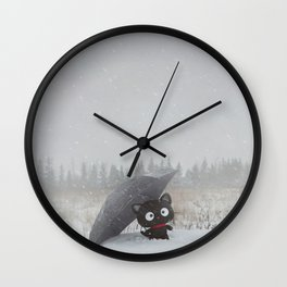Winter Adventures Wall Clock