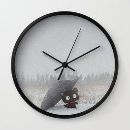 Winter Adventures Wall Clock