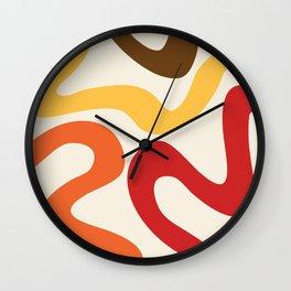 Colorful abstract waves Wall Clock