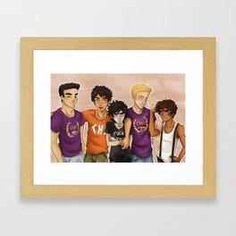 Heroes of Olympus Boys Framed Art Print