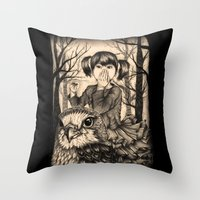 fairy tale Throw Pillows featuring Fairy tale by Paula Duta