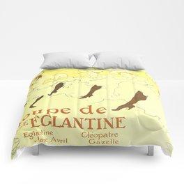 """Henri de Toulouse-Lautrec """"Troupe Mademoiselle Eglantine"""" Comforters"""
