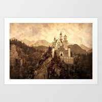 lichtenstein Art Prints featuring Lichtenstein Castle by Dan99