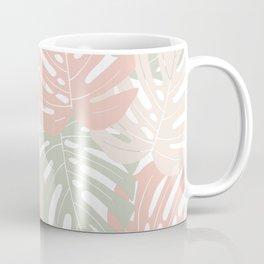 Pastel monstera leaves Jungle leaves Tropical Leaves Coffee Mug