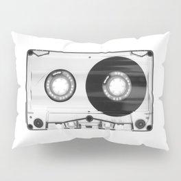 1980's Retro Black-White Vintage 80's Cassette Eighties Technology Art Print Home Decor Wall Decor Pillow Sham