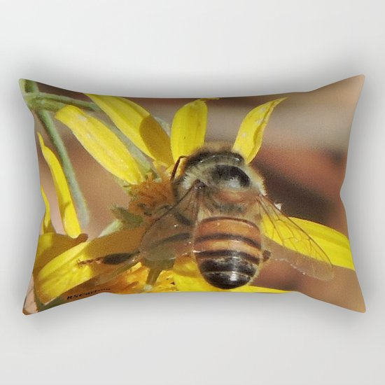 Desert Sunflower Pollen Picker Rectangular Pillow