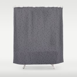 Lorem Ipsum Grey on Grey Shower Curtain