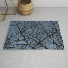 Treetop branches and leaves texture Rug