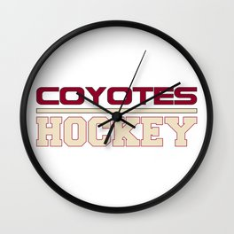 Hockey Ice Red Wall Clock