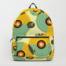 Turntables (Yellow) Backpack