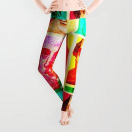 WILLIAM SHAKESPEARE (COLOURFUL POP ART COLLAGE) Leggings