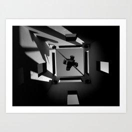 Shadows and Squares Art Print