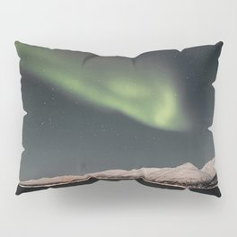 Aurora Borealis Northern Light Show In Norway Photo | Winter Night Art Print | Travel Photography Pillow Sham