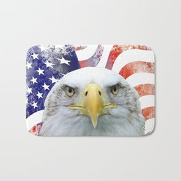 American Flag and Bald Eagle Bath Mat