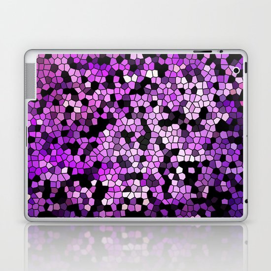 STAINED GLASS PURPLES Laptop & iPad Skin