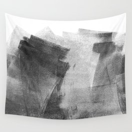 Black and Grey Concrete Texture Urban Minimalist Wall Tapestry