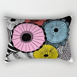 Heart in Flowers, inspired by Marimekko Rectangular Pillow