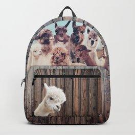 ALPACA ALPACA ALPACA & NEVER STOP EXPLORING - HAPPY FAMILY - Backpack