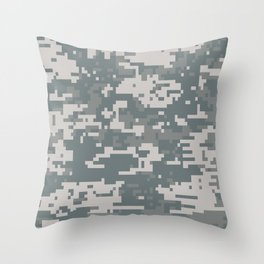 Digital Camouflage Throw Pillow