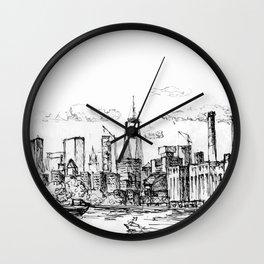 Fineline Skyline Wall Clock